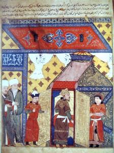 Rachid Ad-Din, 14th century. Reproduction photographed from Le Royaume Armenien de Cilicie, Claude Mutafian.