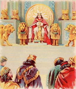 Solomon's Throne, a Bible card published 1896 by the Providence Lithograph Company