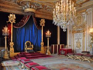 Tron Napoleona I w sypialni królewskiej aut. Jean-Pierre Dalbéra